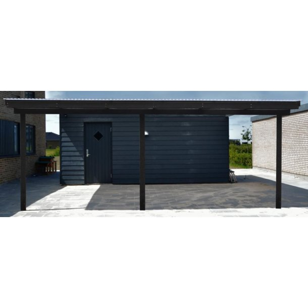 Terrasseoverdækning L. 412cm. B. 360cm.